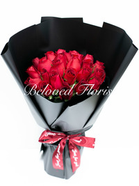Sweet Thoughts - Red Roses in Korean Style Bouquet