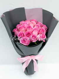 Sweet Thoughts - Pink Roses in Korean Style Bouquet