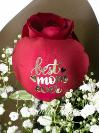 1 'BEST EVER MUM' Red Rose with luxury gift box
